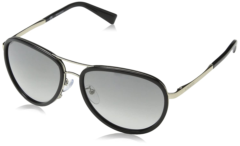 Nina Ricci Damen Sonnenbrille Snr010, Silber (Shiny Khaki), Einheitsgröße