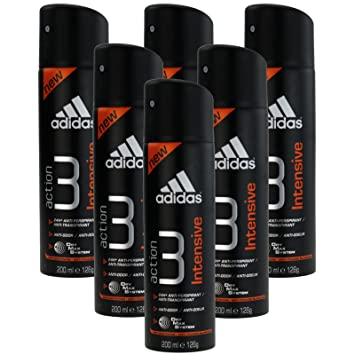 6 x 200ml Adidas Deo Intensive Deospray Herren Deodorant Parfüm Bodyspray
