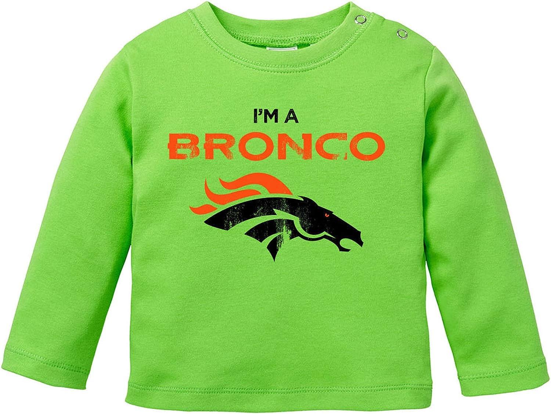 EZYshirt/® I`m a Bronco American Football T-Shirt Baby Langarm Bio Baumwolle