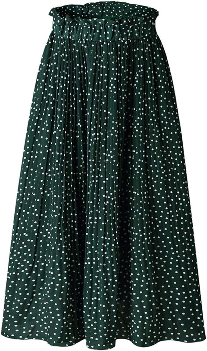 Availcx-Sexy Long Skirt Falda Midi Plisada con Estampado Floral de ...