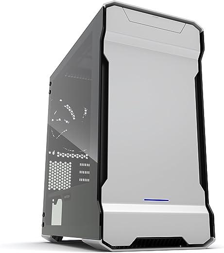 حافظة Phanteks PH-ES314ETG_BK EVOLV mATX من الألومنيوم الخارجي RGB LED إضاءة برج صغير لون أسود لامع PH-ES314ETG_GS