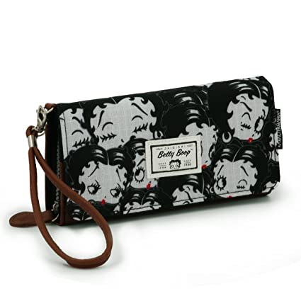 Betty Boop Noir Porte-monnaie, 11 cm, (Negro)