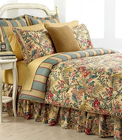 Amazon.com  Ralph Lauren Tangier Floral Cotton Queen 4pc Comforter ... f114a798428bd