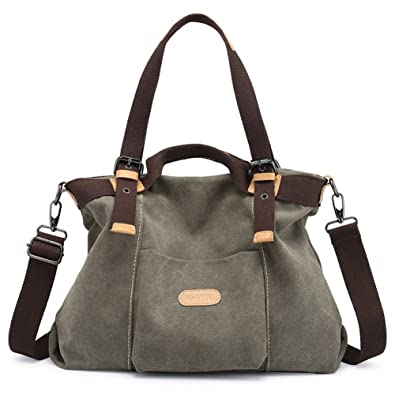53bd69aeef Amazon.com: Z-joyee Women Shoulder bags Casual Vintage Hobo Canvas Handbags  Top Handle Tote Crossbody Shopping Bags: Shoes