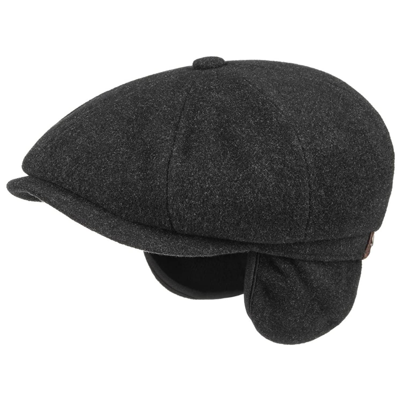 Stetson Men's Hatteras Wool Cap With Ear Flaps - Navy