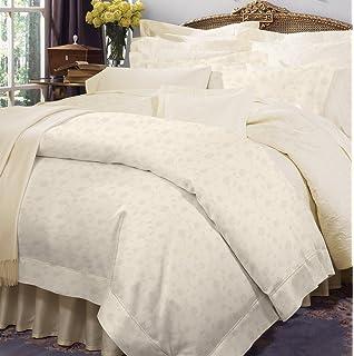 QUEEN Sferra Italian Sateen 100/% Egyptian Cotton Sheet Set Punto Ombra Hem Ivory