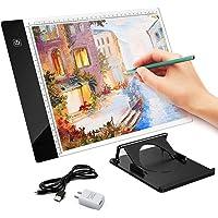 AMYTY A4 caja de luz Portable LED Tracing Light Pad Arte Tatuaje regulable Brillo LED Bloc de dibujo cuadro Stencil con cable de alimentación USB