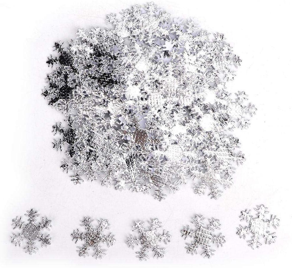 Shimmer Snowflakes Cake Table Confetti Holiday Accessorio Decorativo per Matrimonio Invernale Festa Coriandoli Fiocchi di Neve Argento 25mm AB HEEPDD 300Pcs Coriandoli di Fiocchi di Neve di Natale