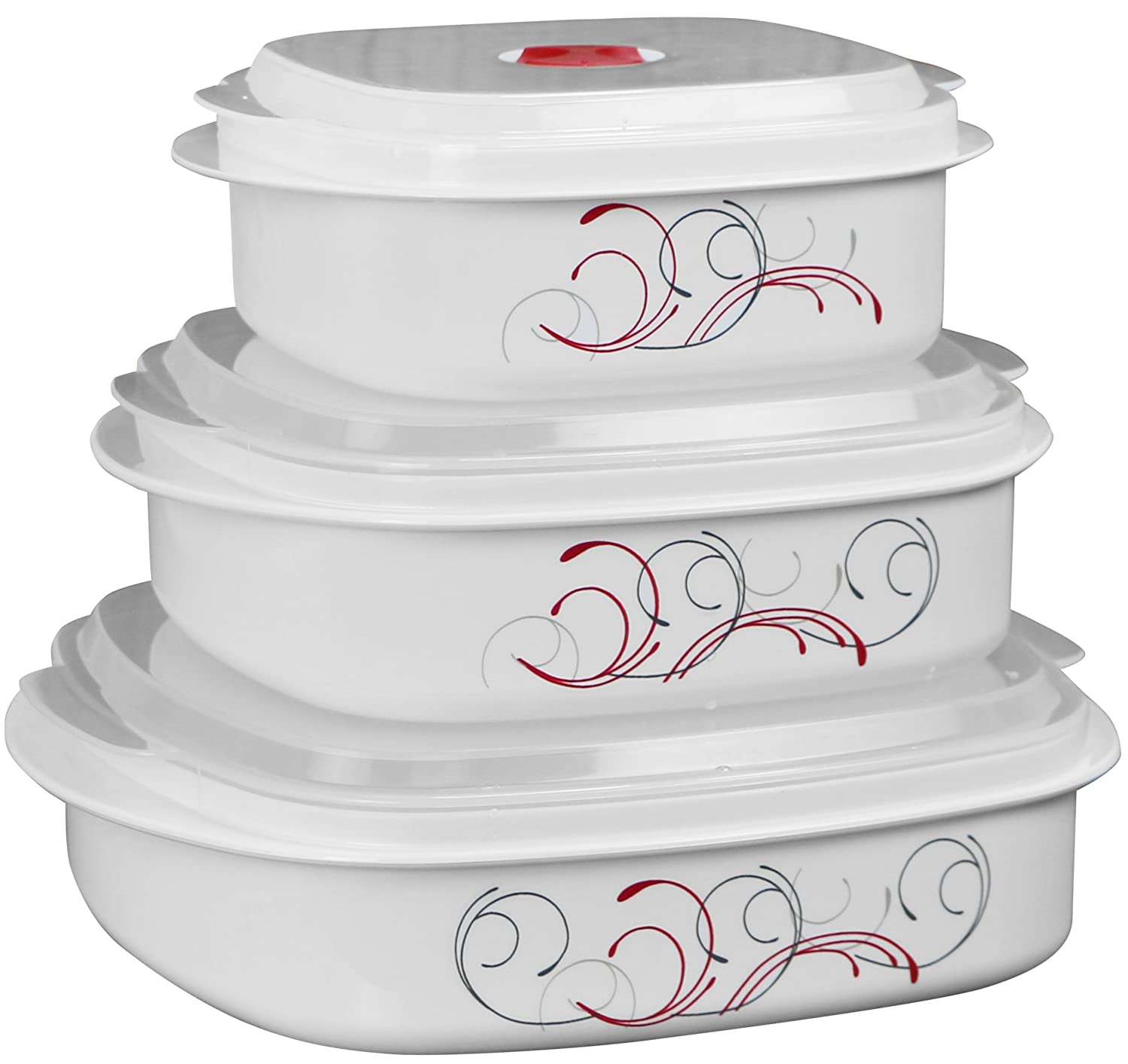 Corelle Coordinates Splendor 6-Piece Microwave Cookware and Storage Set Reston Lloyd Ltd. 20254