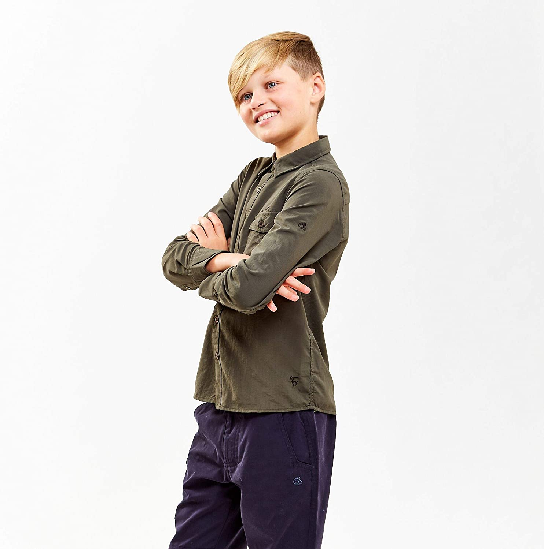 Craghoppers Boys NosiLife Emerson Durable Long Sleeved Shirt