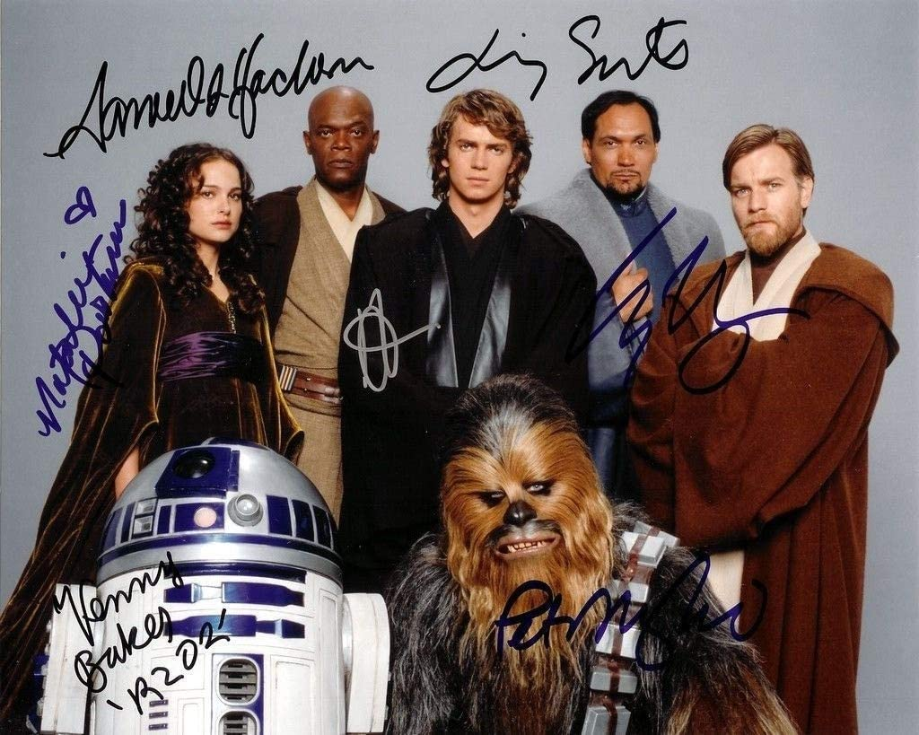 Star Wars Revenge Of The Sith Cast Reprint 8x10 Inch Photograph Ewan Mcgregor Samuel L Jackson Hayden Christensen Natalie Portman Jimmy Smitskenny Baker Peter Mayhew At Amazon S Entertainment Collectibles Store