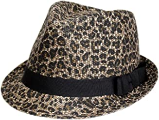 Scala Pronto Women s Leopard Fedora Hat 71501b13d563