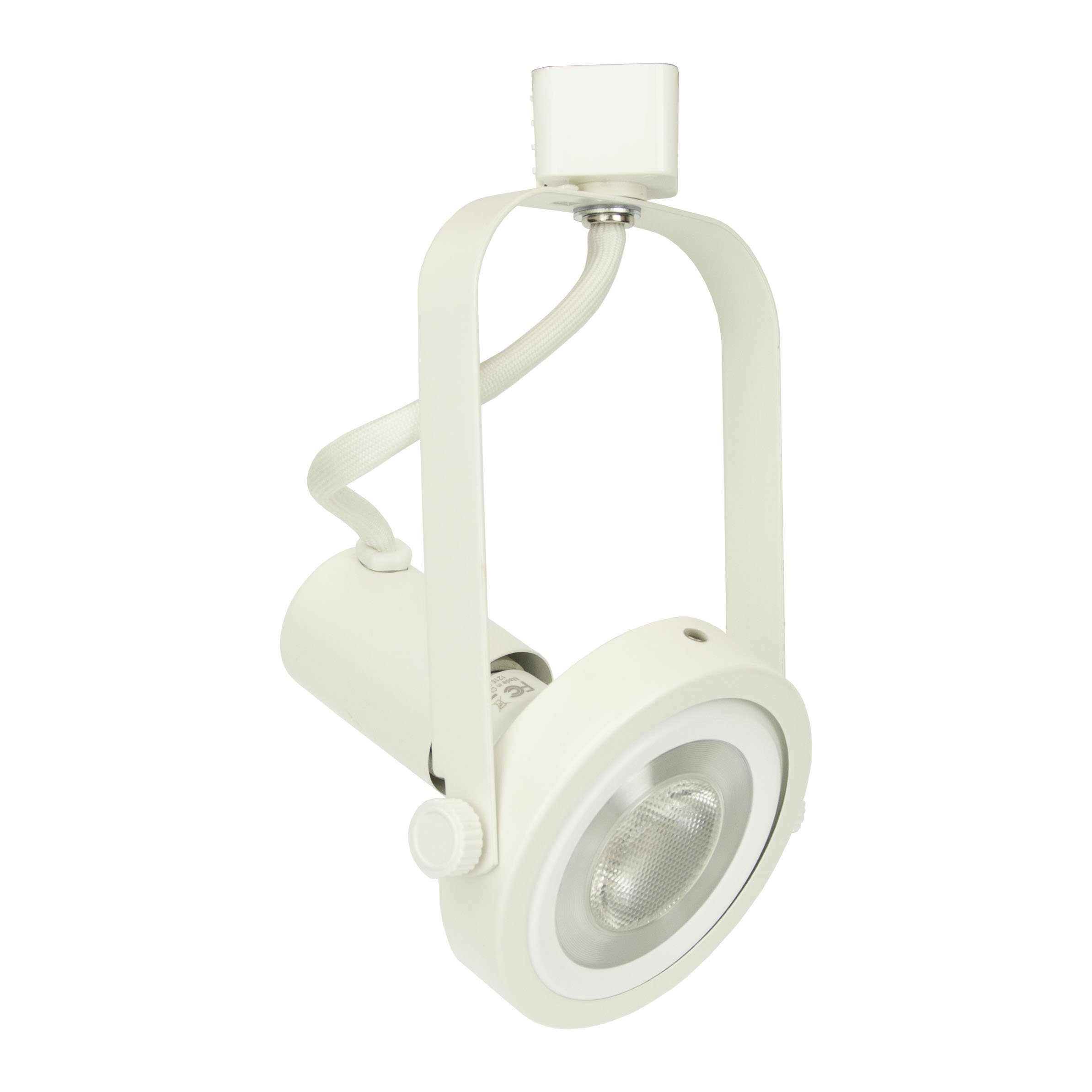 D&D Brand H System PAR30 Line Voltage Gimbal Ring Rear Loading Track Lighting Fixture White HTC-9005-WH ( No Bulb )
