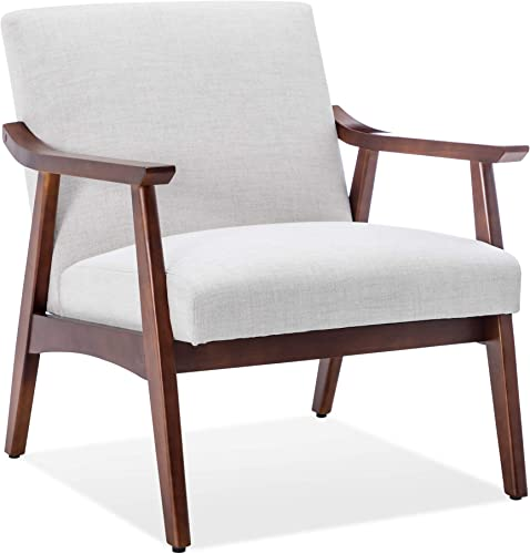 Deal of the week: BELLEZE Mid Century Retro Modern Fabric Accent Chair Upholstered Wood Frame Armchair