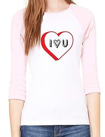 84ef05e2 Mato & Hash Woman's Valentine's Day Raglan Shirt, Woman's Raglan Shirts, Valentines  Shirts - I Heart U at Amazon Women's Clothing store: