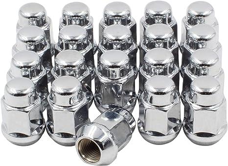 21 Pcs 12x1.5mm Black Metal Hexagonal Wheel Locking Lug Nuts for Car