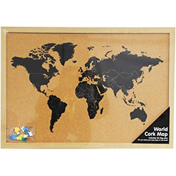 World map cork board amazon office products world map cork board gumiabroncs Gallery