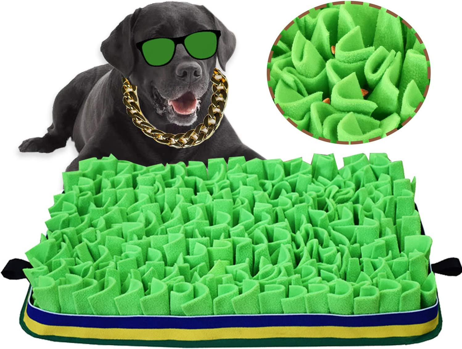 Snuffle Mat for Dogs, Pet Sniffing Mat Training Snack Pad Slow Food Decompression Tool Encourage Dogs Foraging Skills Training Blanket