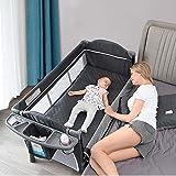 Baby Beside Sleeper Bassinet, Sleeper Bed Side Crib for Baby Include Sheet Mattress, Diaper Changer,Hanging Diaper Caddy…