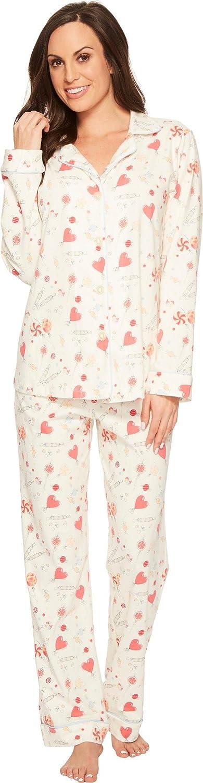 BedHead Womens Long Sleeve Classic Stretch Knit Pajama Set