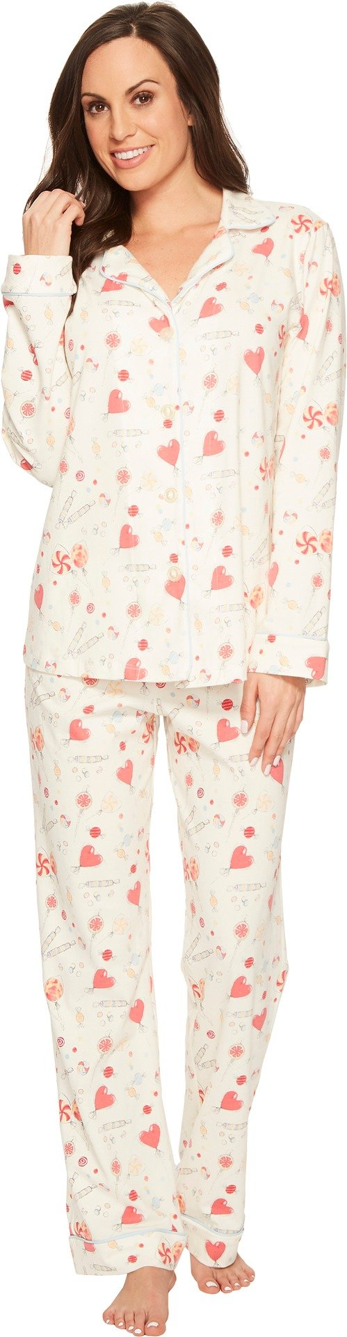 BedHead Women's Long Sleeve Classic Stretch Knit Pajama Set Sweet Tooth Large