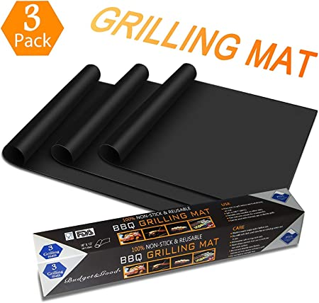 5er Set PREMIUM Grillmatte Backpapier Ersatz BBQ Grillmatten Mat für Gasgrill