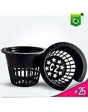 3 inch Net Cups Heavy Duty Pots Wide Lip Design - Orchids • Hydroponics Kratky Wide Mouth Mason Jars Slotted Mesh Cz Garden All Star 25 Pack