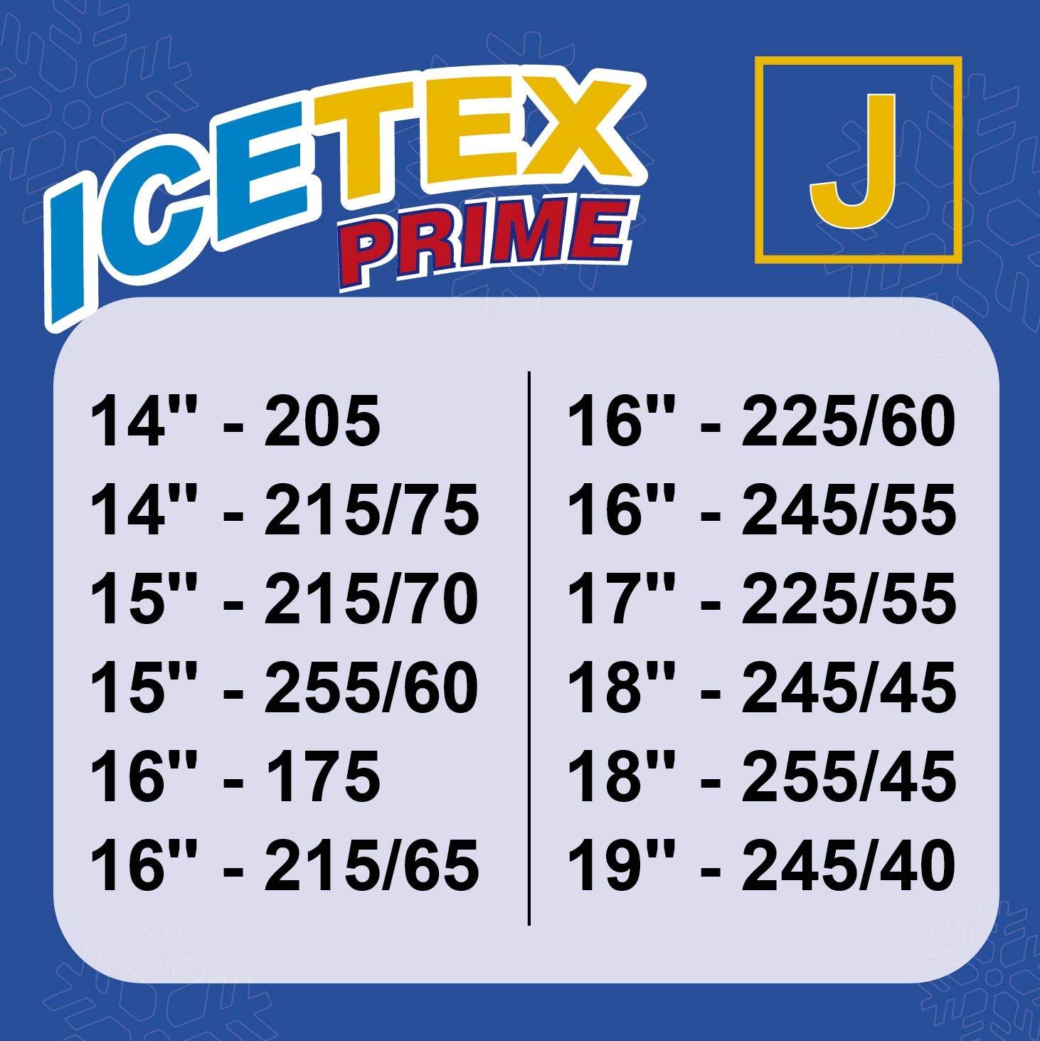ICETEX PRIME Talla B AZ.3405.0051801 Fundas Antideslizantes//Cadenas Textiles para la Nieve