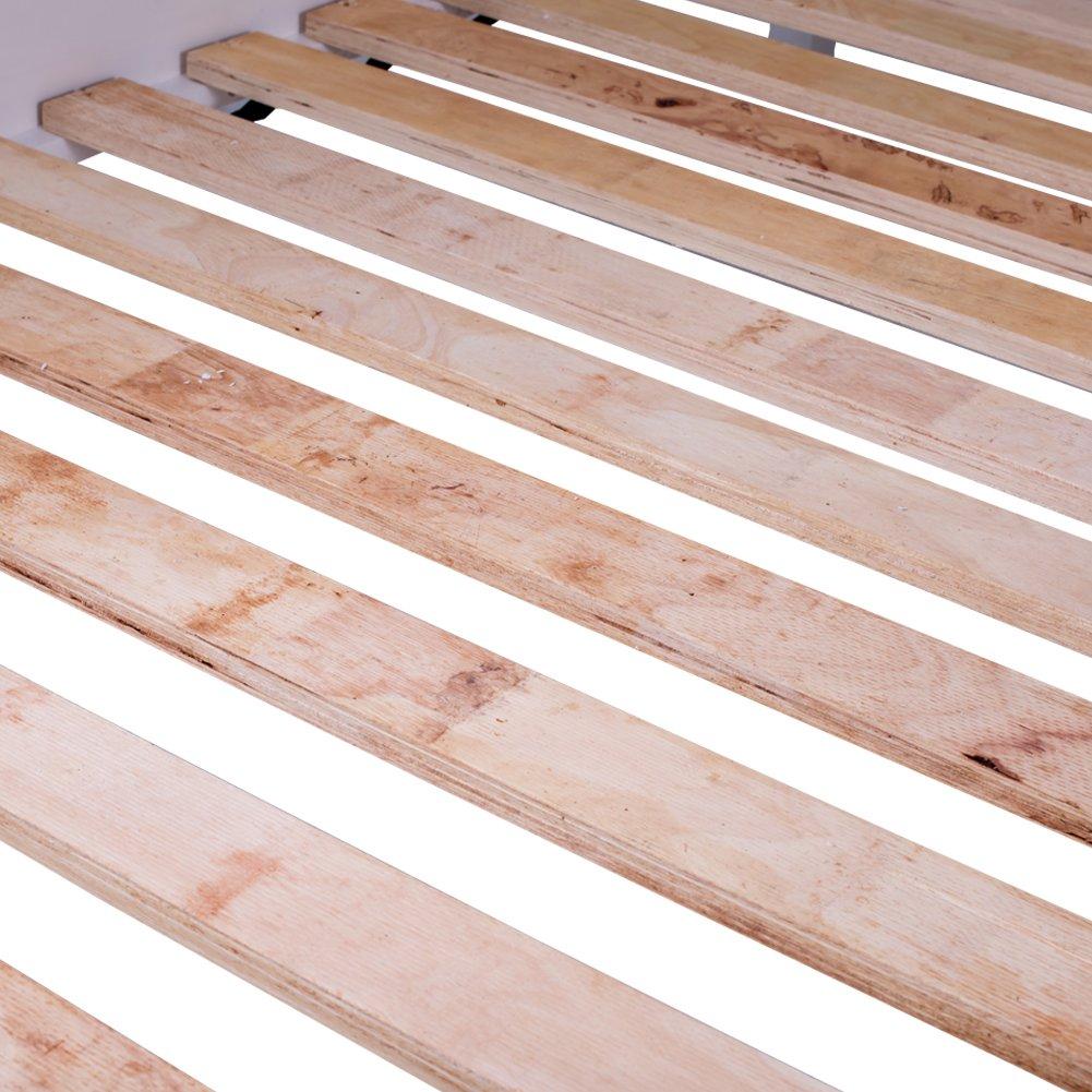 Merax Wood Platform Bed Frame with Headboard / No Box Spring Needed / Wooden Slat Support / Espresso Finish (-Walnut-) by Merax. (Image #4)