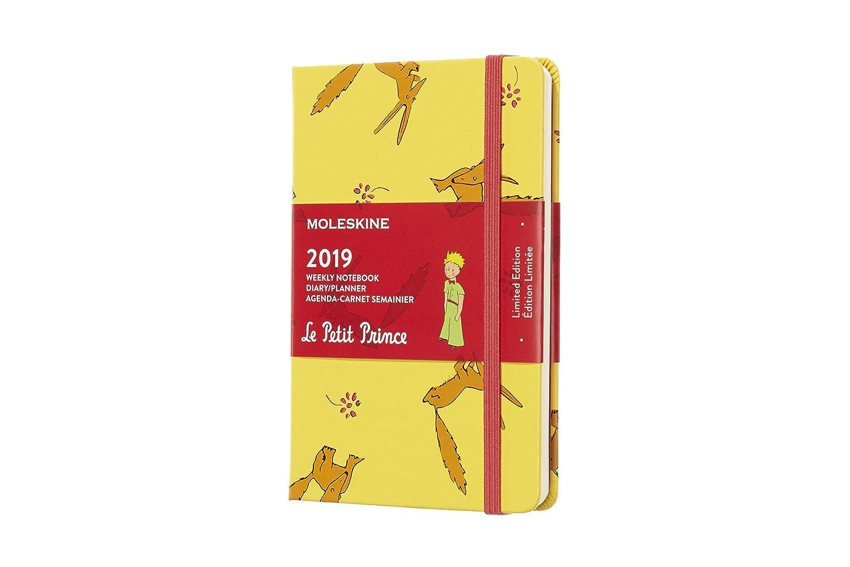 Moleskine DPP12WN2Y19 - Libreta semanal 12m de edición limitada Petit Prince de bolsillo, color amarillo girasol