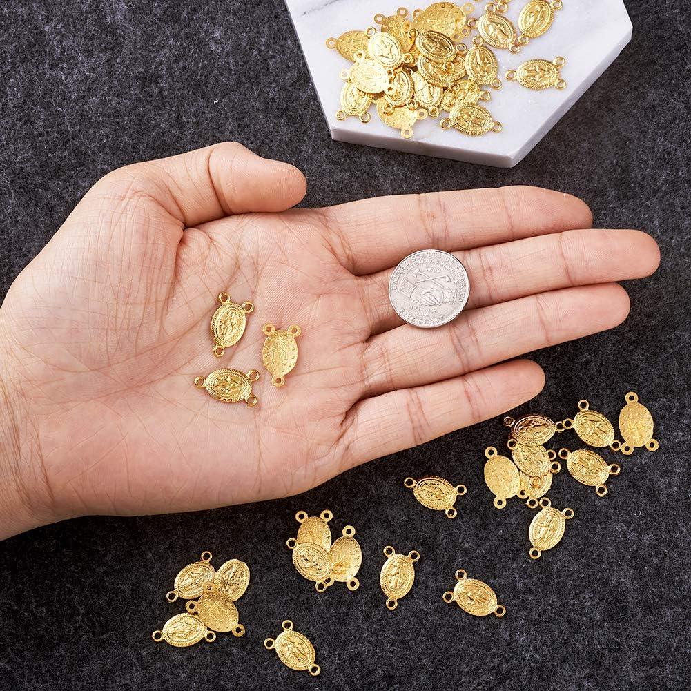 10pcs Unfading Golden Alloy Virgin Links Rosary Bead Necklace Making Handcraft