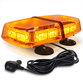 LED Amber Warning Strobe Light Recovery Car Flashing Magnetic Roof Beacons