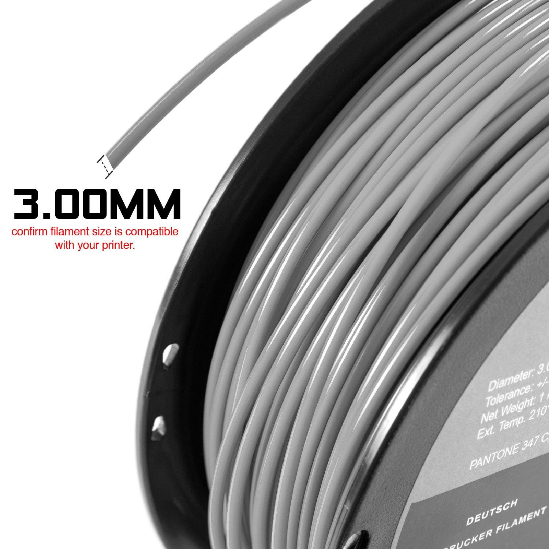 White 3D ABS-1KG3.00-WHT 3.00 mm 1 kg Spool HATCHBOX ABS 3D Printer Filament Dimensional Accuracy +//- 0.05 mm