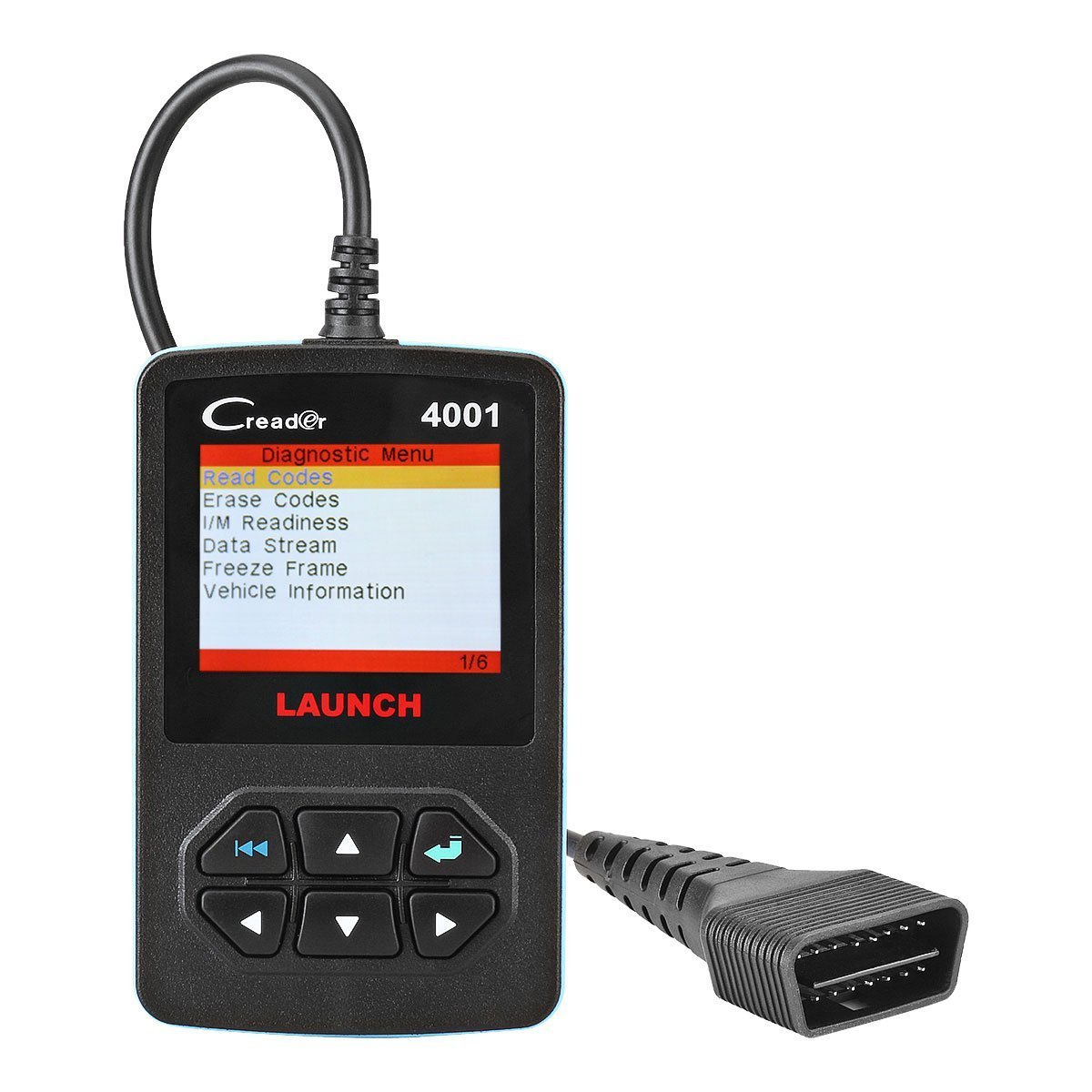 LAUNCH Creader 4001 OBD2 Scanner Diagnostic Scan Tool Car Code Reader for Turning Off Check Engine Light Reads and Clears Engine Fault Codes