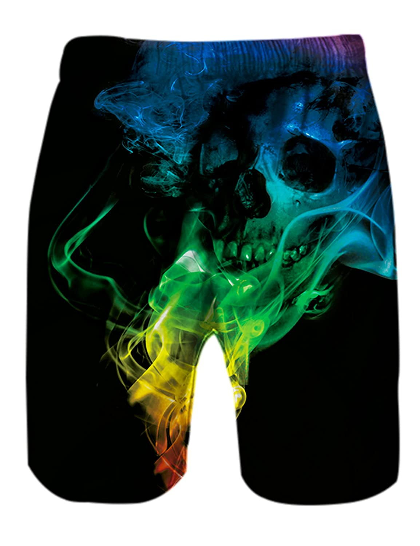 Bluepy Uomo Costumi da Bagno Pantaloncini Tshirt Maglietta Canotte con Motivi Stampati in 3D S-XXL