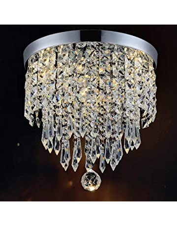 370c94504c Hile Lighting KU300074 Modern Chandelier Crystal Ball Fixture Pendant  Ceiling Lamp H9.84