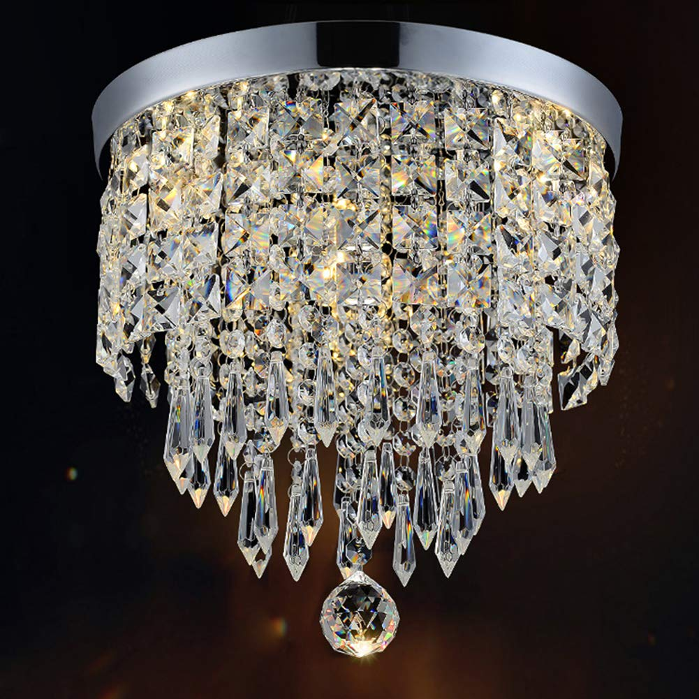 Hile Lighting KU300074 Modern Chandelier Crystal Ball Fixture Pendant Ceiling Lamp H9.84'' X W8.66'', 1 Light
