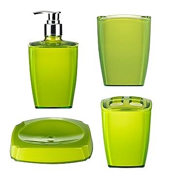 RIDDER 229928050-350 Bad Accessoires-Set Neon grün 4-tlg ...
