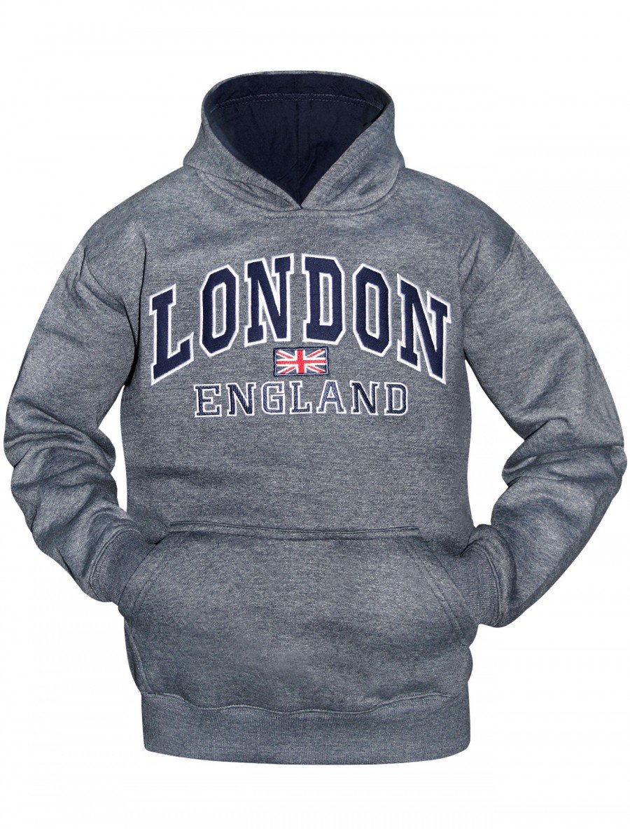 16Sixty New Kids Boys Souvenir Hood London England Hoodie Casual Hoody Sweatshirt