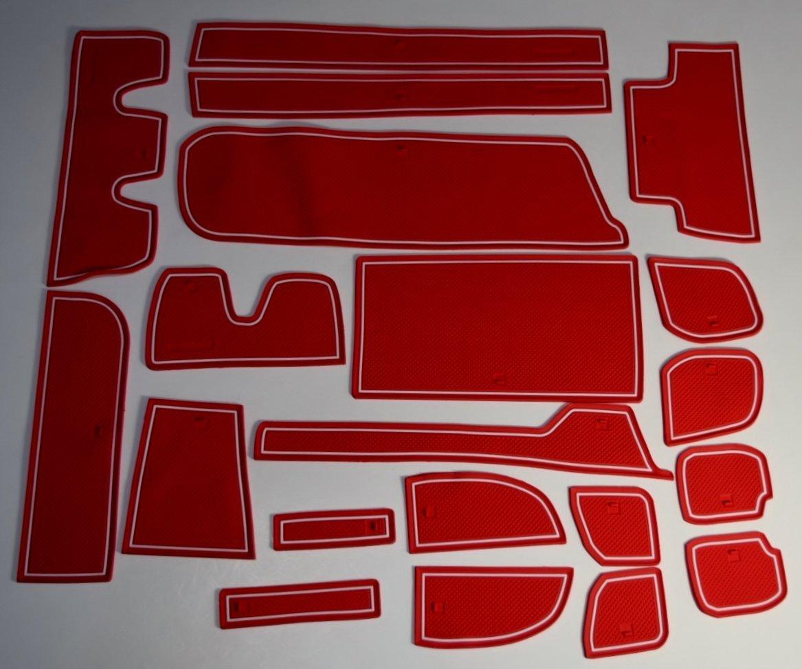 KINMEI Honda new Step WGN RP type RED specially designed interior door pocket mat drink holder slip non-slip storage space protection rubber mats HONDA Step wgnrpa