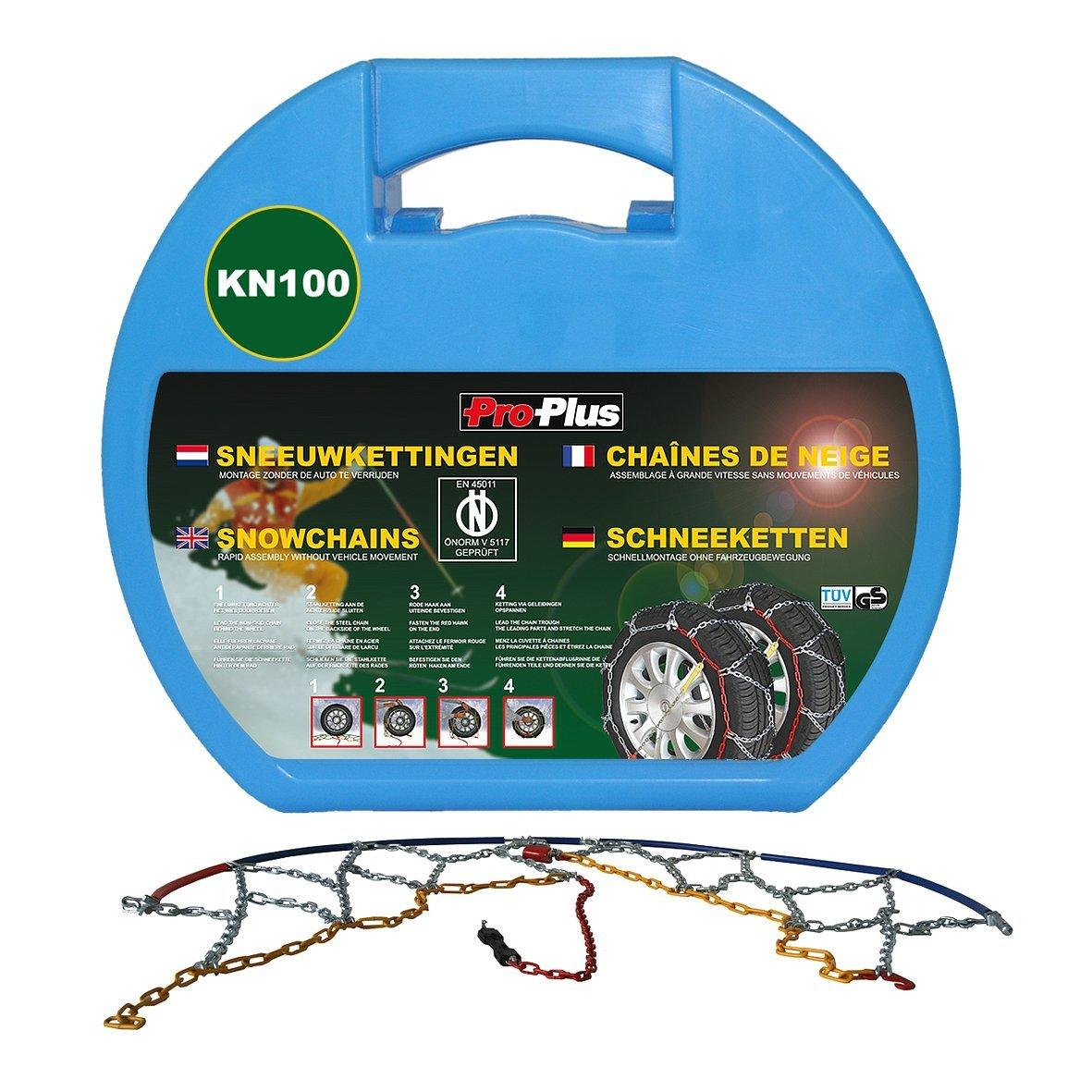 Car Tyre Snow Chains 12 mm KN100 2 pcs Tyre Chains Sock Chain Wheel Antiskid vidaXL