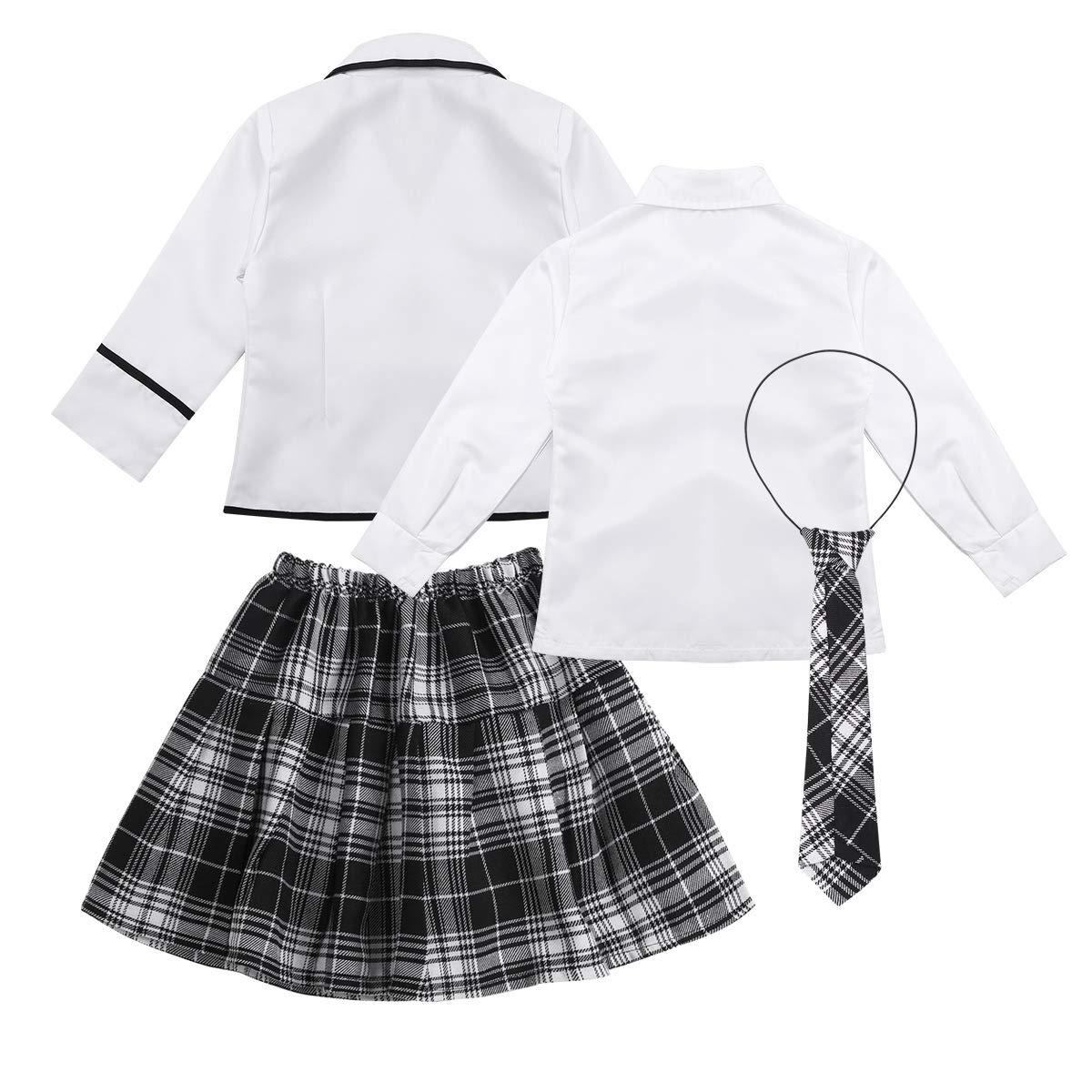 dPois Disfraz Colegiala Niña Uniforme Escolar Japones Camisa Manga ...