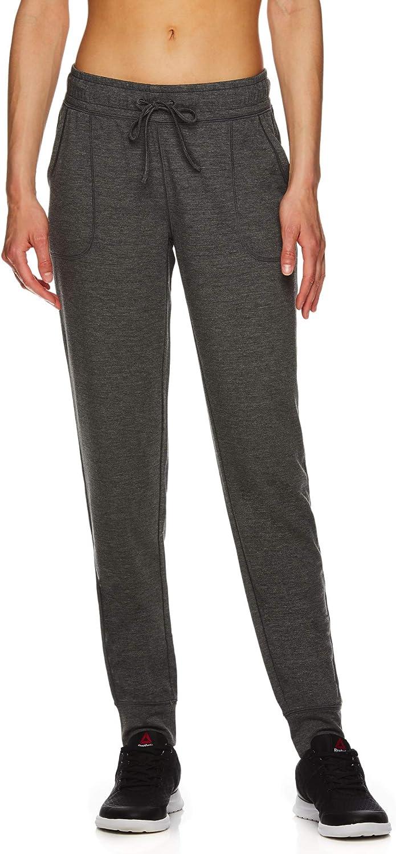 Reebok - Pantalones de correr para mujer (cintura media, para ...