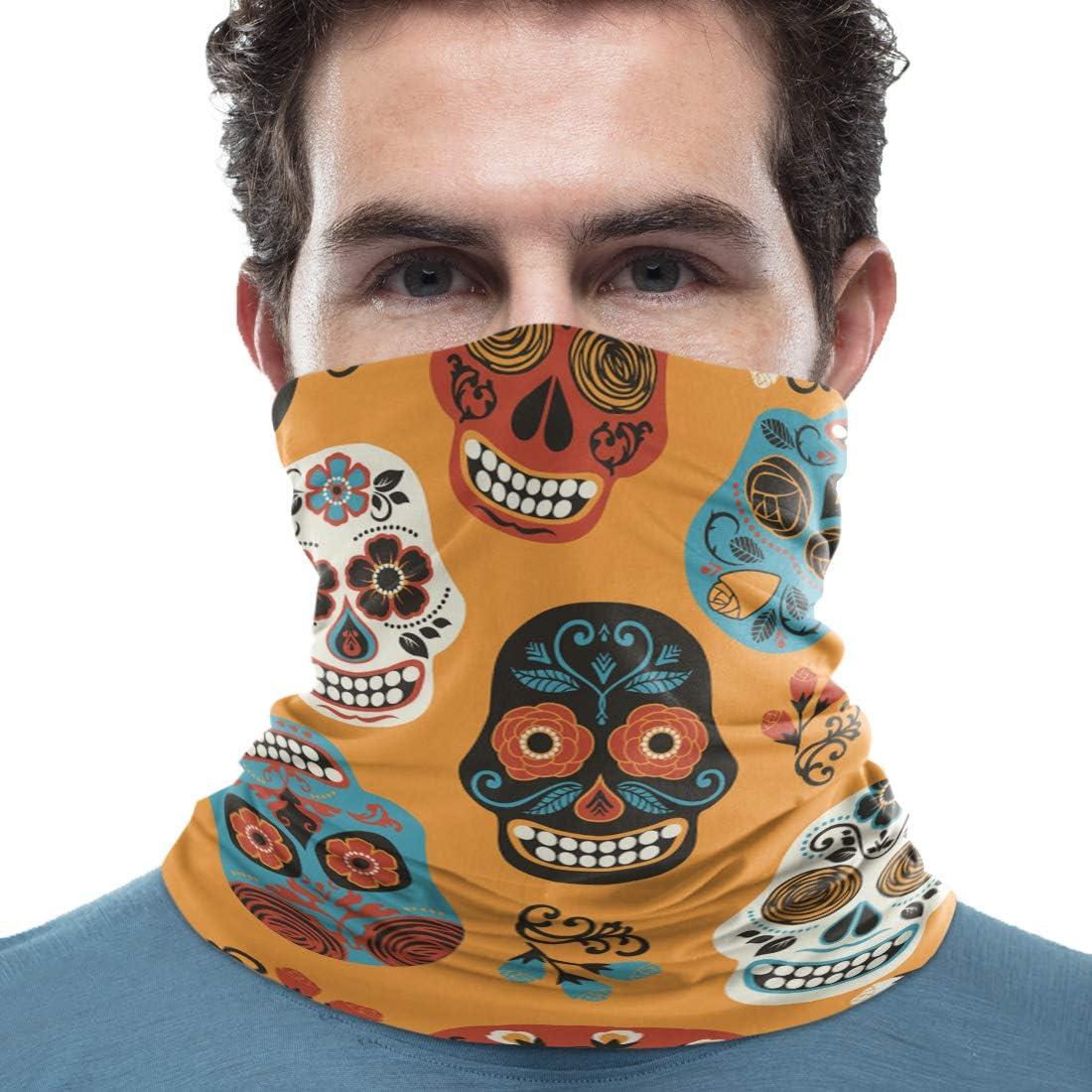 Women/Men Scarf Outdoor Bandana Headwear Sports Tube UV Face Cover for Workout Yoga Running Octopus
