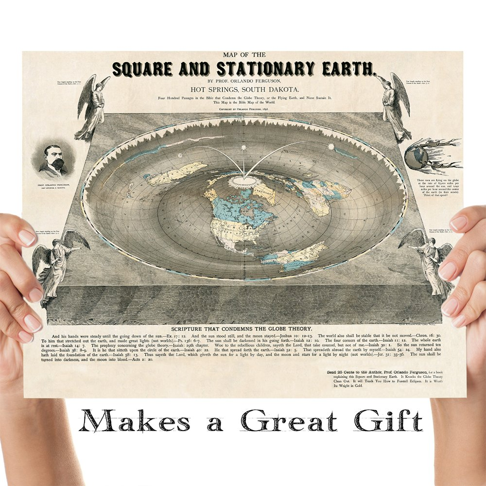 Square Earth Map.Amazon Com Flat Earth Map Of The Square And Stationary Earth