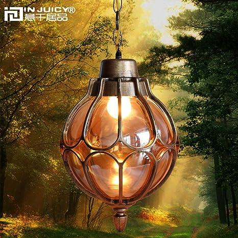 Injuicy Lighting Vintage Industrial E27 Edison Metal Glass Pendant
