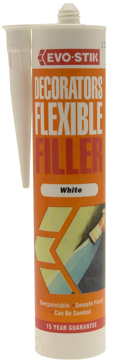 Evostik DECORATORS FLEX FILLER  - WHITE 112926 Evo Stik 5000403104454 Decorators Sealants Fixings and Hardware Items Lubricants - Sealants and Hand Cleaners