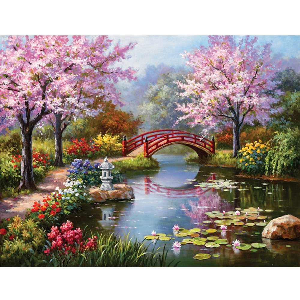 Blxecky 5D DIY Diamond Painting By Number Kits,home(57X45CM/22X18inch)