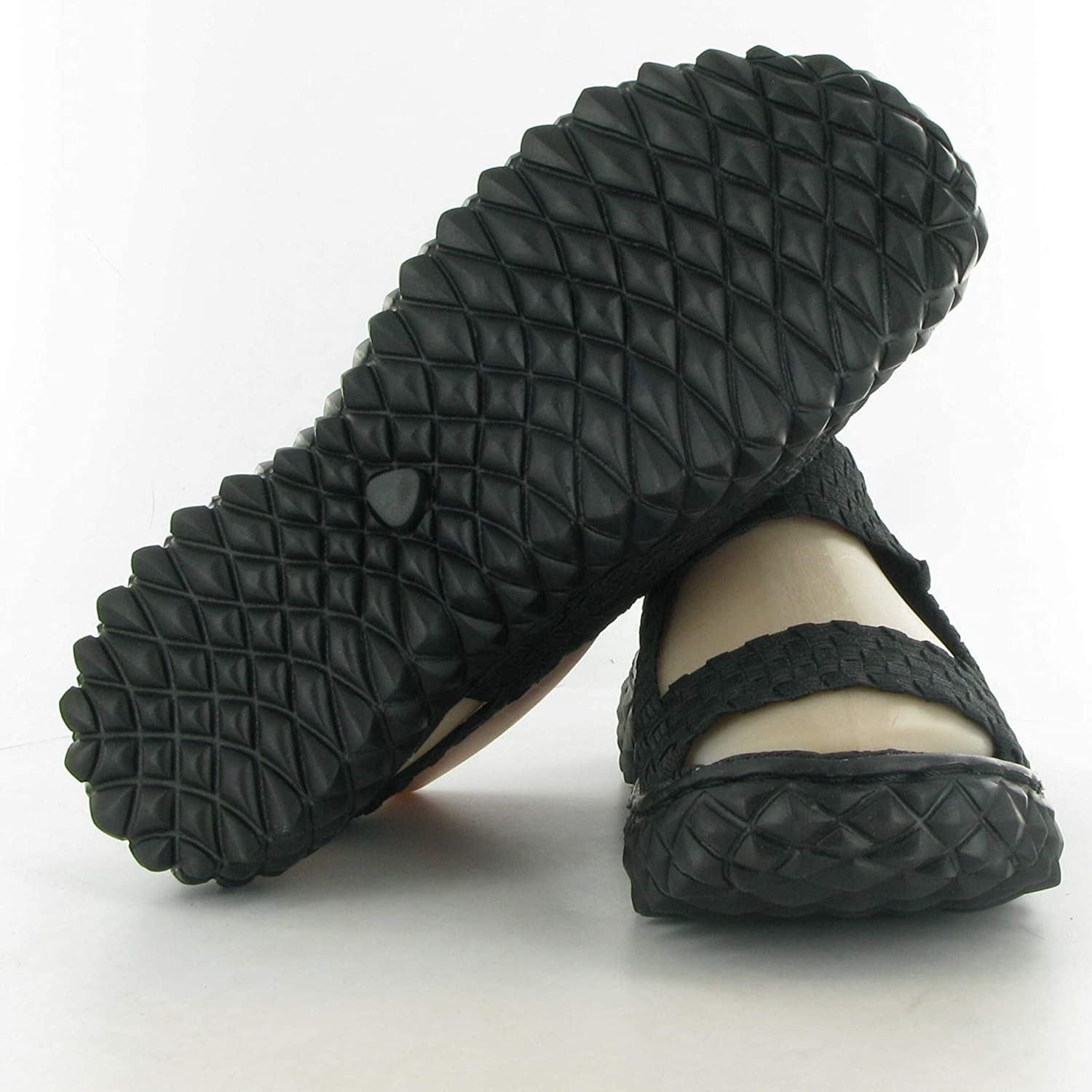 0ee0e654 Adesso - A1522 Woven Sandals, Black, 6 UK Adult: Amazon.co.uk: Shoes & Bags