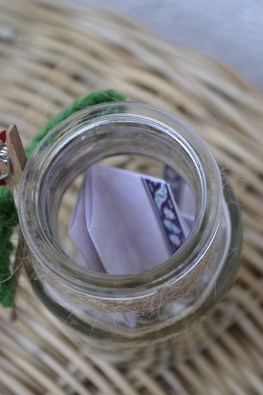 Gl/ücksbringer Gl/ücksglas Wunschglas Gl/ück W/ünsche Glas mit Gl/ücksklee Marienk/äfer und Wunschzettel im Apothekerglas